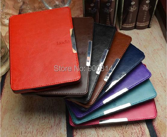Slim smart folio pu leather cover case for Amazon kindle paperwhite 1 and 2 + Screen Protector+stylus pen