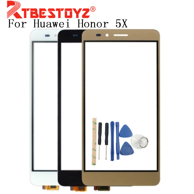 RTBESTOYZ 5.5'' For <font><b>Huawei</b></font> <font><b>Honor</b></font> <font><b>5X</b></font> <font><b>Touch</b></font> Panel <font><b>Touch</b></font> <font><b>Screen</b></font> Digitizer Sensor Replacement For <font><b>Honor</b></font> <font><b>5X</b></font> Mobilephone +Tools image