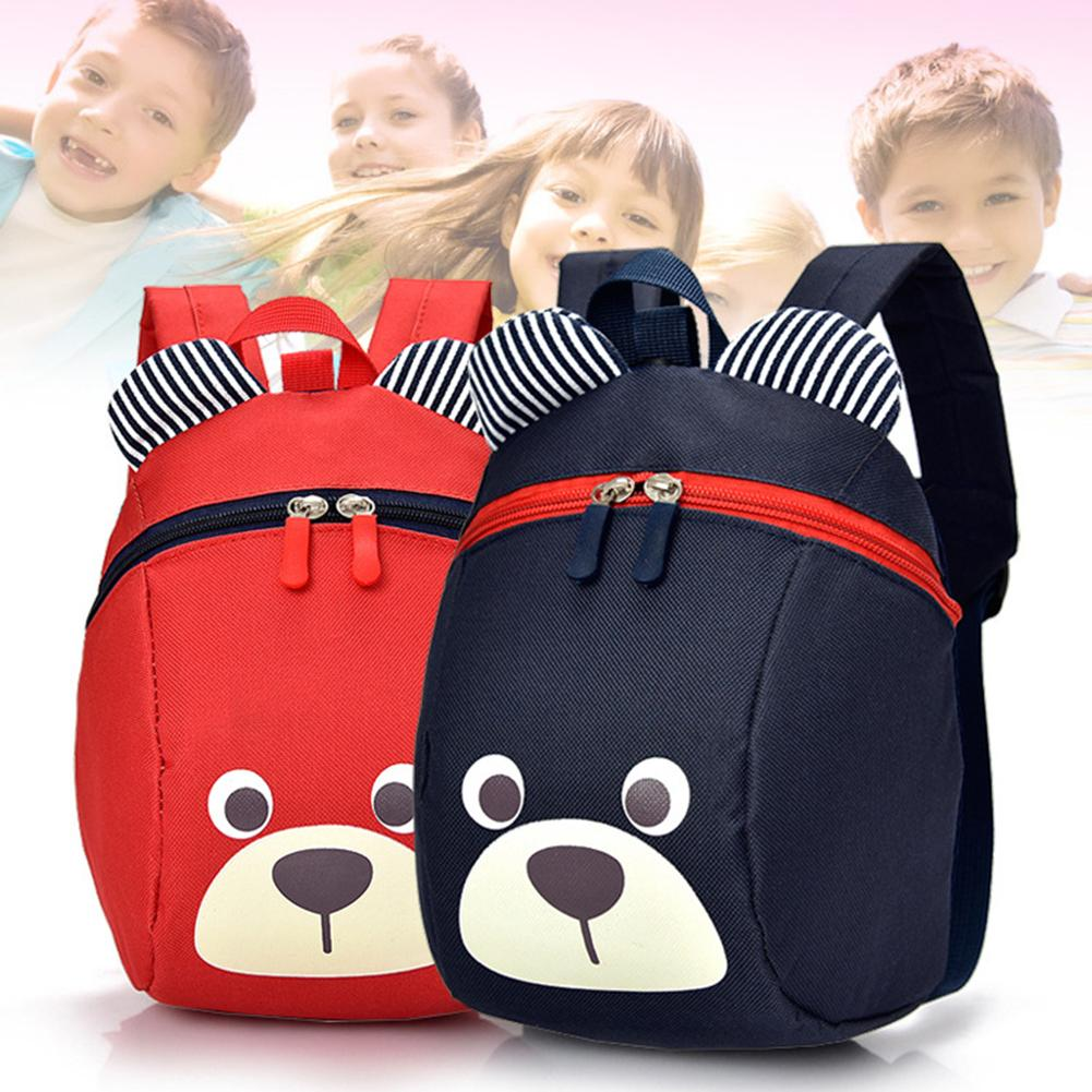 Bookbag Lovely Cartoon Bear <font><b>Kids</b></font> Children Anti-lost <font><b>School</b></font> <font><b>Backpack</b></font> Kindergarten Bag waterproof travel <font><b>School</b></font> Bag <font><b>for</b></font> Girls Boys image