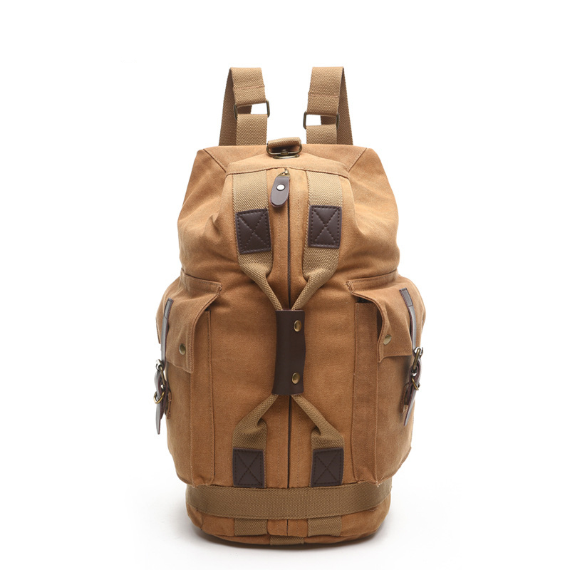 Vintage Classic Fashion - Men's backpack Korean Canvas leisure travel bag students school bag best gift for boyfriend 2017 new korean man pu leather backpack male new style junior middle school students leisure travel backpack fashion bag