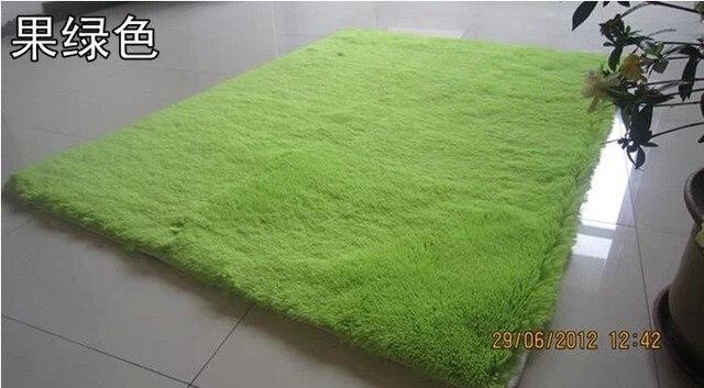Venta caliente 100 * 140 cm alfombra de color verde para salón ...