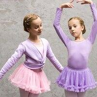High Quality Ballet Dance Suit For Girls Purple Pink Cotton Tutu Yarn(Leotard+Skirt)Sets Children Competitive Show Dresses Y139