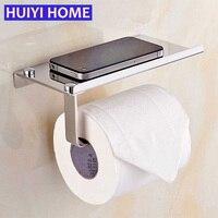 Huiyi Home Tissues Phone Storage Rack Stainless Steel Bathroom Organizer Toilet Paper Holder Towel Wall Shelf Accessories EGN312
