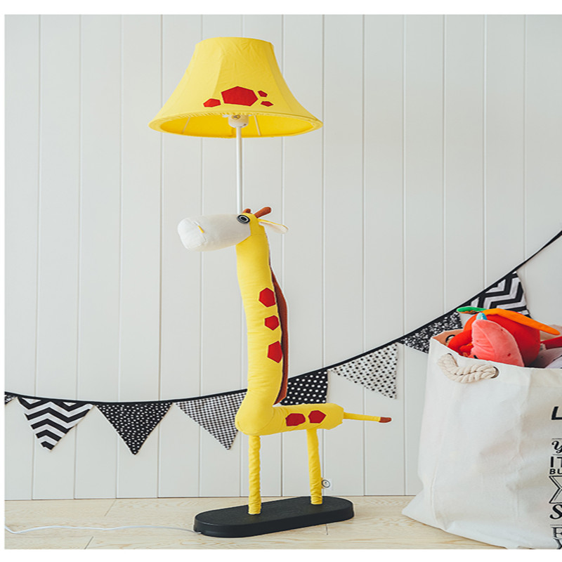 Kids Room Floor Lamp: Cottage Novel E27 Fabric Giraffe Floor Lamp Children's