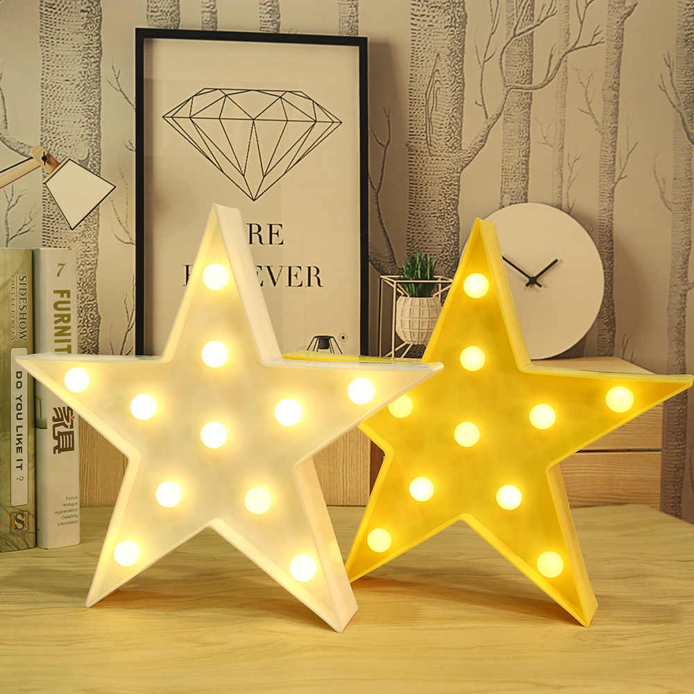 3D в форме звезды Звездное небо ночник шатер письмо стоячие лампы Дети подарок игрушка для детей спальня настенный светильник-бра декоративный #40
