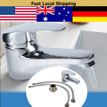 цена на Bathroom Faucet Water Tap Single Handle Hot Cold Water Sink Tap Mixer Faucet Brass Water Faucet Tap Chrome Plated Bathtub Faucet