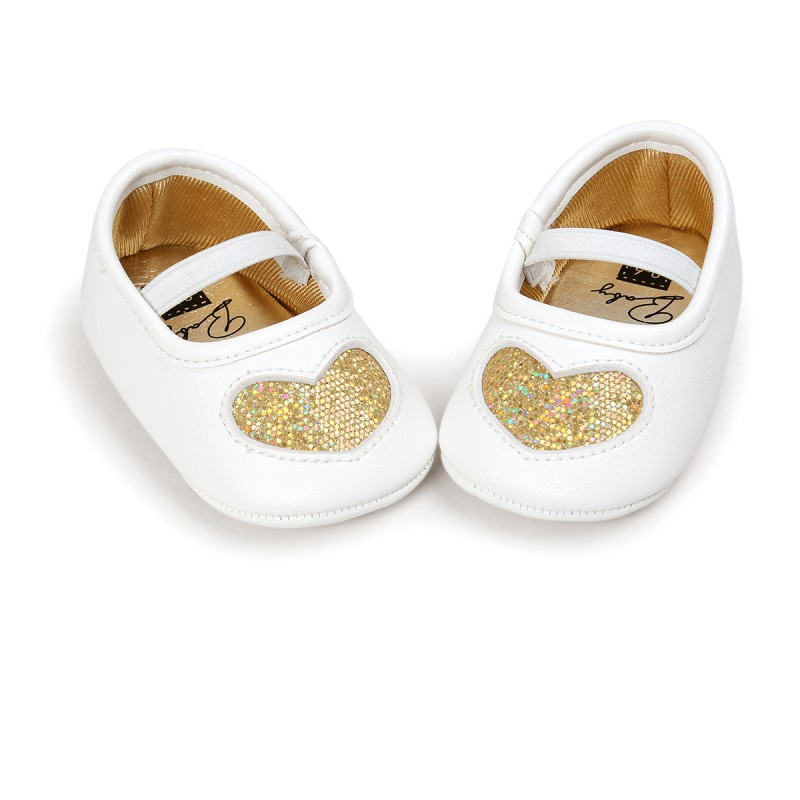 da0147e0c1208 New Born Baby Girls Soft Soled Shoes Princess LOVE First Walkers Infant  Toddler Baby Shoes New