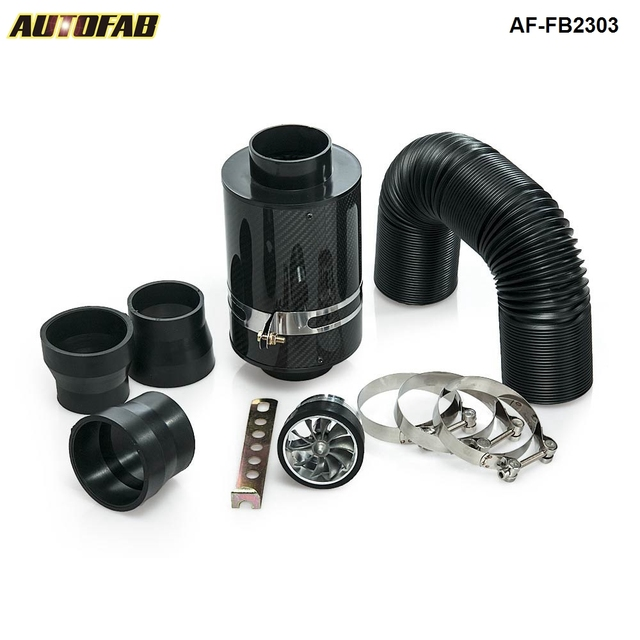 R$ 100 8 |Aliexpress com: Compre Universal Alimentação Fria Kit Indução &  Carbon Fibre Caixa de Filtro De Admissão De Ar com ventilador Para Honda