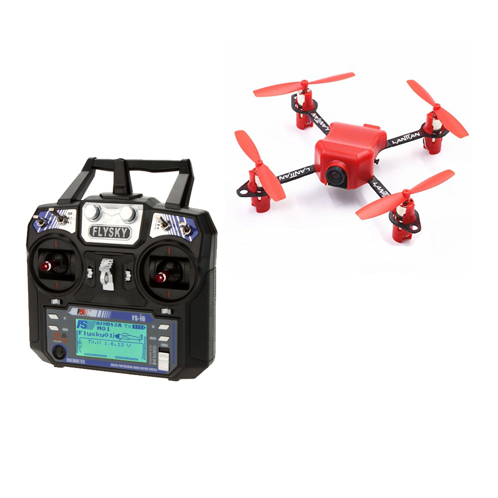 JMT LT105Pro Mini RC FPV Racing Quadcopter Camera Drone RTF With Flysky FSI6 Remote Control SP F3 Brushed Flight Control jmt kingkong et100 rtf brushless fpv rc racing drone with flysky fs i6 6ch 2 4g transmitter radio system mini quadcopter