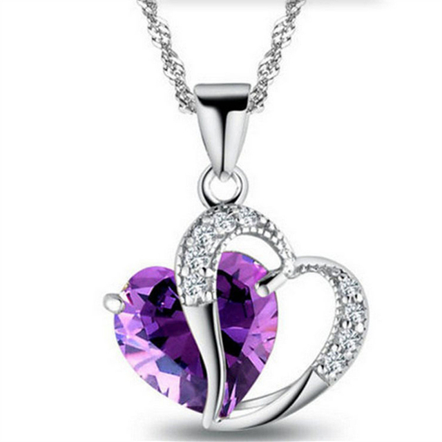 Heart Shaped Zircon Pendant Necklace