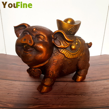 Bronze lucky gold pig indoor shop decoration Chinese style hot