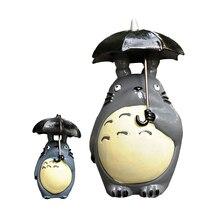 Micro Landscape Figurine Cute Totoro Miniatures Mini Model Garden Creative Totoro Resin Craft Home Decoration Accessories Gifts mini totoro umbrella jardin figurine toys set 2016 new pvc japanese anime lotus leaf totoro landscape micro gardening dolls