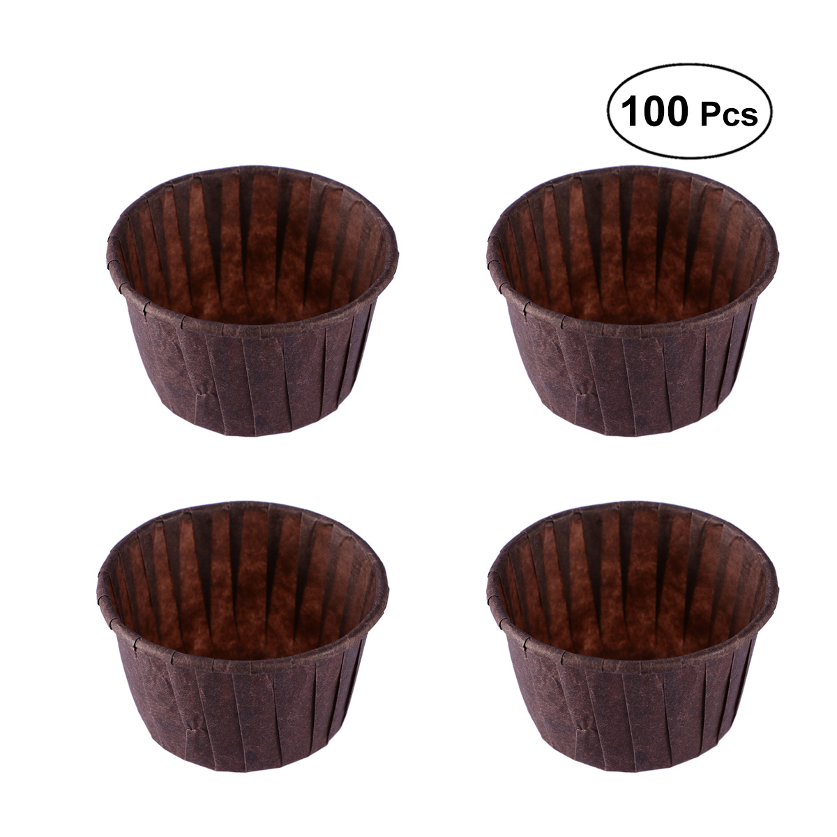 100pcs Paper Muffin Cup Greaseproof Non Stick Baking Cups ...