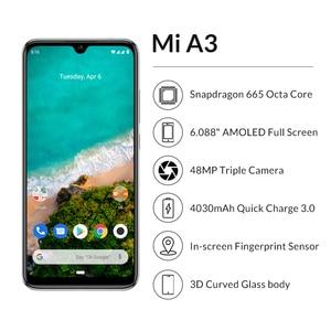 "Image 2 - Original Xiao Mi Mi A3 6.088 ""AMOLED 4GB 128GB 48MP โทรศัพท์มือถือ Snapdragon 665 OCTA Core ในหน้าจอลายนิ้วมือ 4030mAh โทรศัพท์มือถือ"