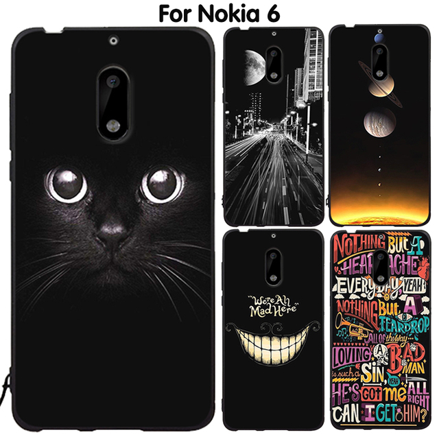 huge discount cce36 12285 US $1.42 55% OFF|EiiMoo Phone Case For Nokia 6 Cover Silicone Capa Coque  For Nokia 6 Back Cover Cute Cartoon Soft TPU For Nokia6 Case 2017 64GB-in  ...