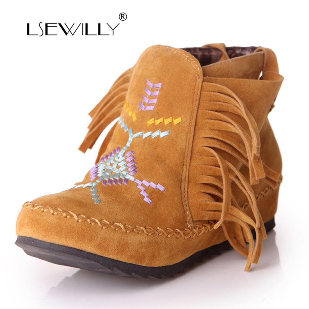 Lsewilly boots Fashion Womens Ankle boots Flat Casual Women shoes plus size 34-43 fashion Sweet Solid Flock short boots AA559 new 2017 spring summer women shoes pointed toe high quality brand fashion womens flats ladies plus size 41 sweet flock t179