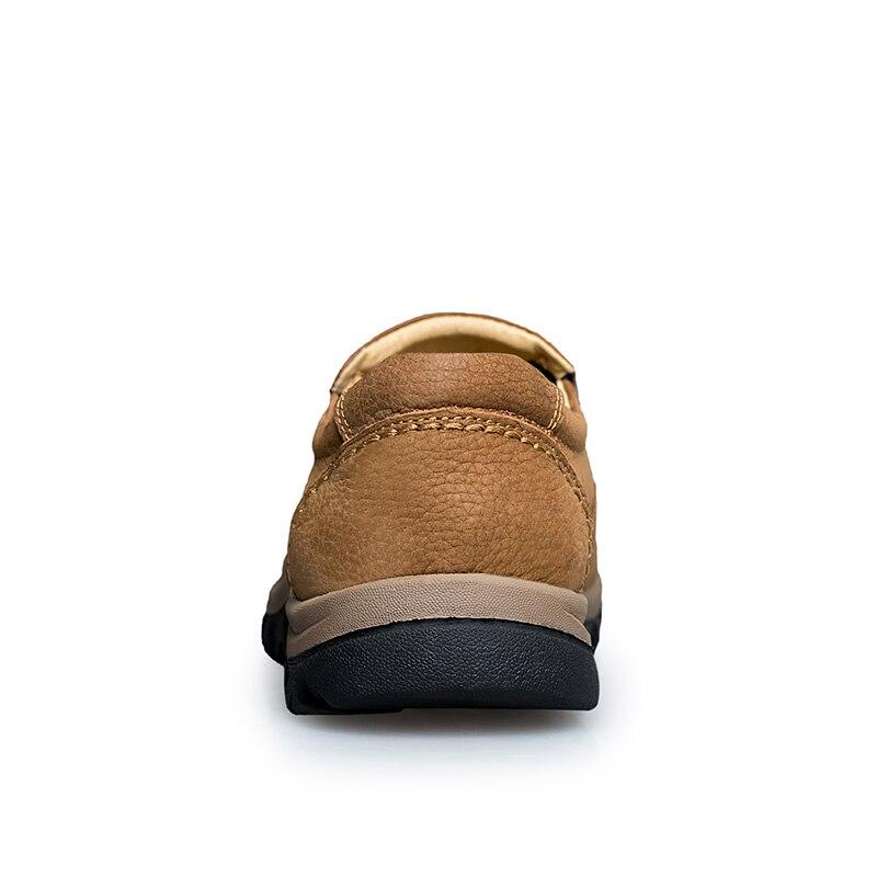 Hommes Qualité 47 Véritable brown Chaussures Les De Zapatos Causalité Mocassins Tailles Air Khaki En Plein Grandes Glissement Haute Nouveau Plus Cuir Hombre Sur 0knOP8w