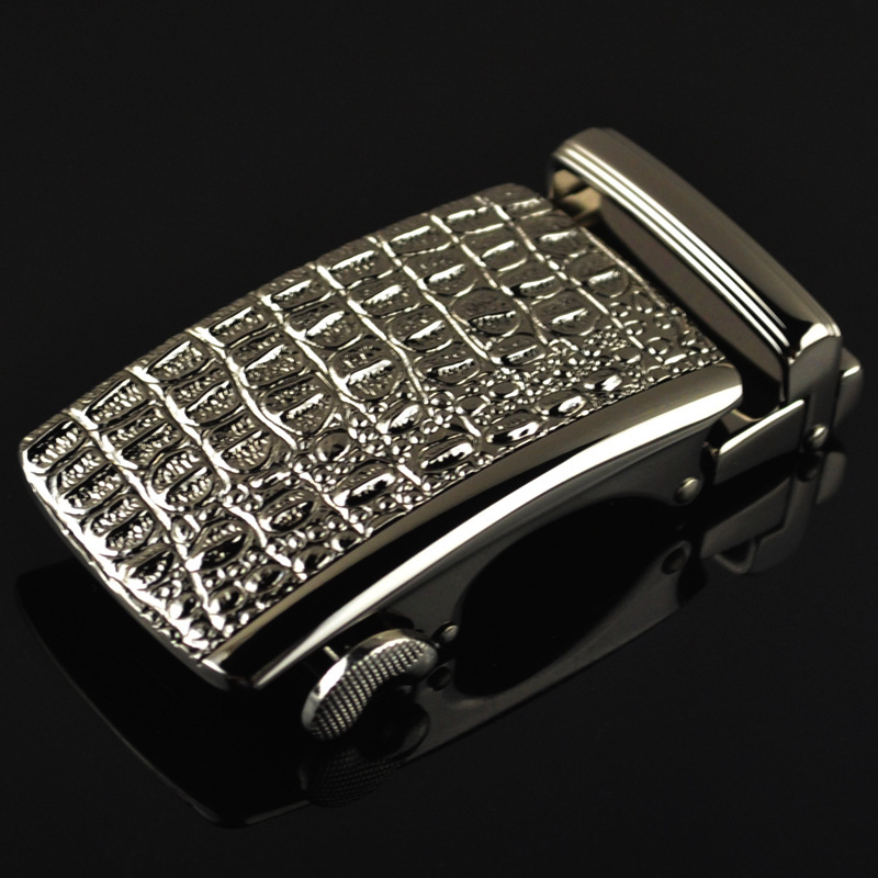 3.5cm Width Belt Buckles For Men Fashionable Animal Crocodile Automatic Buckle Male Belts For Men CE1813-QQ