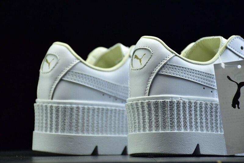 new styles 26a1b 734bb Original PUMA X RIHANNA Suede Cleated Creeper Women's Third Generation  Rihanna Classic Basket Tone Simple Badminton Shoes