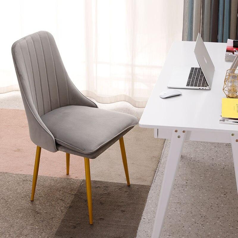 Modern Minimalist Sponge Velvet Restaurant Furniture Chair Restaurant Modern Pu China Iron Chair Wood Kitchen Dining Chair Rest