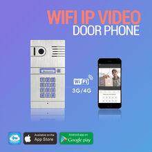 The world first 3G 4G WiFi IP intercom system two way intercom remotely unlock door via