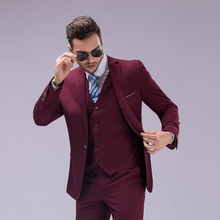 (jacket+vest+pants) New Arrival Mens Suit Male Fashion Brand Slim Fit Suit Wedding Groom Tuxedos S-4XLPlus Size