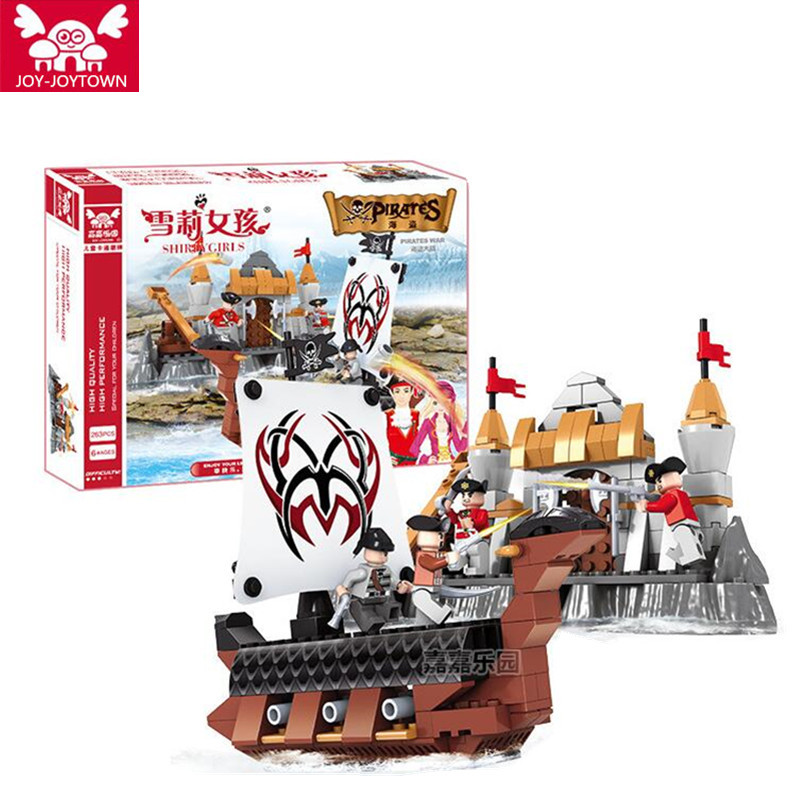 Lepin Queen Anne's Revenge 263Pcs Mini Bricks Set Sale Pirates of the Caribbean Blackbeard Building Blocks Toys For Kids B45 lepin 16006 804pcs pirates of the caribbean black pearl building blocks bricks set the figures compatible with lifee toys gift