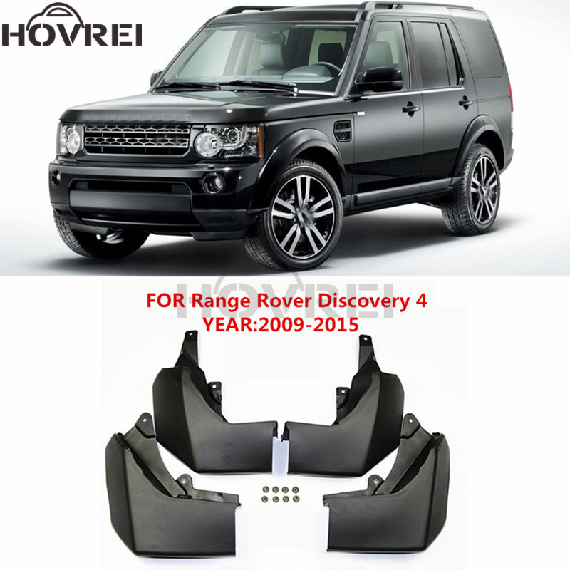 4pcs/set Car  Mudguards For Land Rover Discovery 4 LR4 2009-2015 Mud Flaps Splash Guards Fender 2010 2011 2012 2013 2014