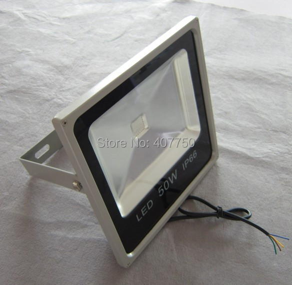 Супер тонкий dmx потока RGB LED Light 50 Вт Высокий Яркий Долго проекционное расстояние IP65 водонепроницаемый используется для наружного освещения