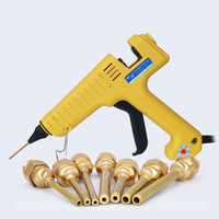 200W 220V Hot Melt Glue Gun 1.5x70mm,2x7mm,3x70mm Long Copper Nozzle,Adjustable Temperature Industrial Glue Gun with glue sticks