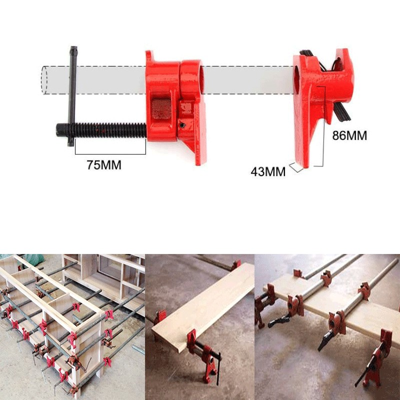 3/4 inch Heavy Duty Pipe Clamp Woodworking Tools Carpenter Woodworking Wood Gluing Pipe Clamp Pipe Clamp Fixture