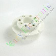En gros et au détail 12pc 8pin En Céramique tube à vide prises Pour FU50 GU50 LV3 5U8C 5U9C FU15 audio ampli