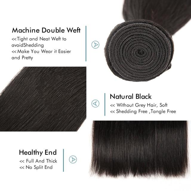 Asteria proste włosy brazylijskie doczepy do włosów splot 1 pakiet 3 lub 4 wiązki 8-26 Cal Remy doczepy z ludzkich włosów NaturalBlack