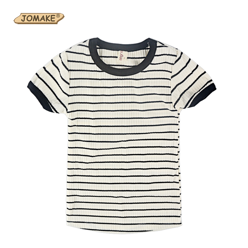 Girl T-shirt Summer 2018 Hot Sale Classic Striped Skinny Girls T shirts Toddler Girl Clothing Kids Clothes Baby Girls Tops Tees