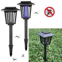 Fioletowe światło lampa zasilana energią słoneczną Mosquito zabójca lampy Buzz lato na zewnątrz Fly Insect Bug Mosquito zabić Zapper zabójca