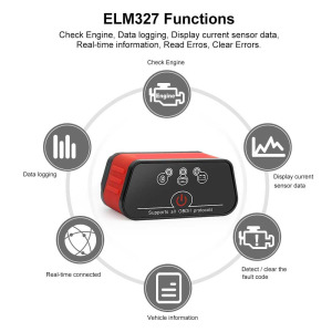 Image 2 - OBD2 EML327 V1.5 Auto Diagnose Werkzeug Mini Bluetooth Adapter ELM327 OBDII Auto Diagnose Tool Auto Diagnose Scanner für Android