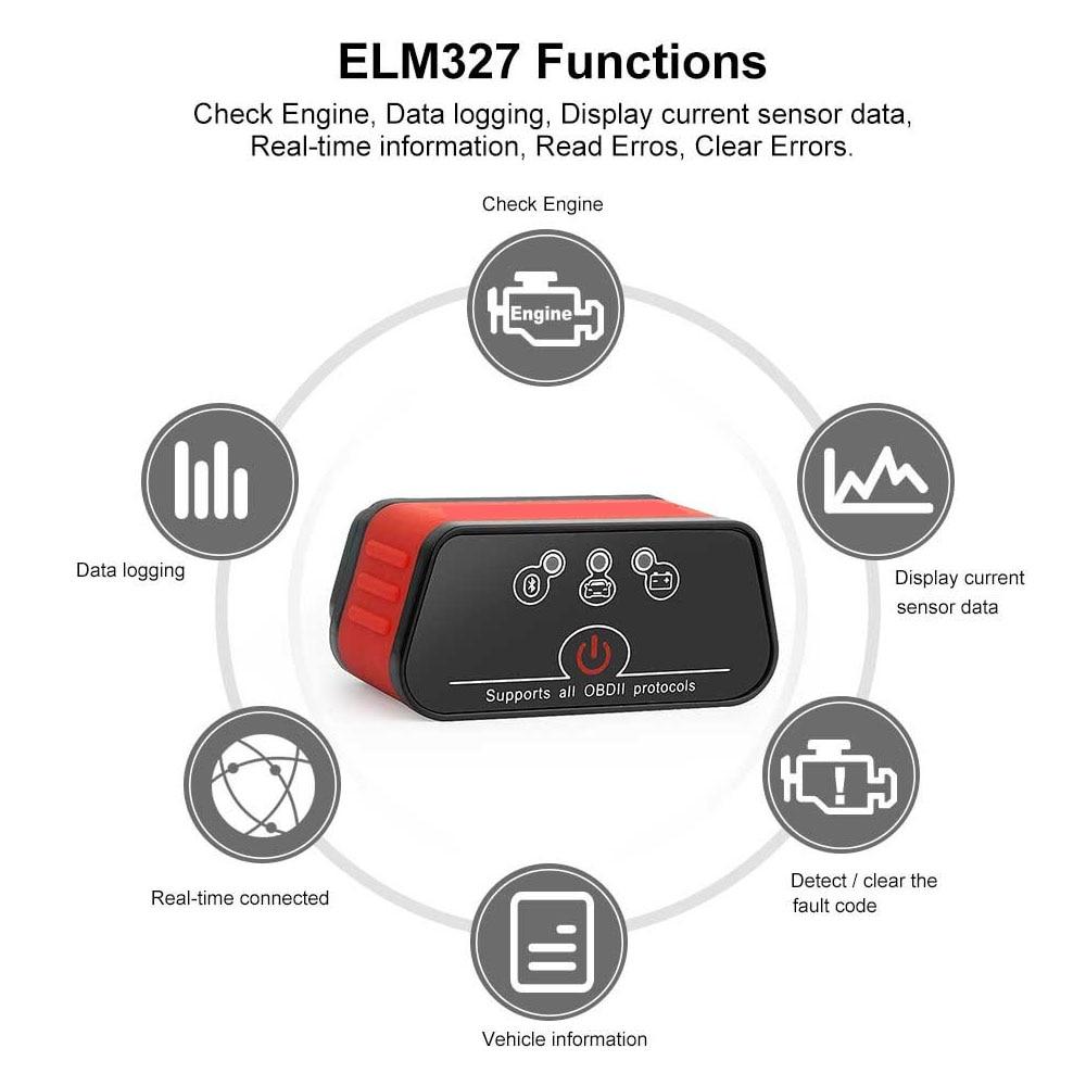 Image 5 - OBD2 EML327 V1.5 Car Diagnostic Tool Mini Bluetooth Adapter ELM327 OBDII Auto Diagnostic Tool Car Diagnostic Scanner for Android