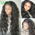2017 New Virgin Human Lace Front Wigs Brazilian Hair With Baby Hair For Black Women 13x6inch Long Parting Space Lace Frontal Wig