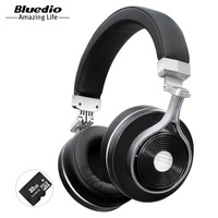 Bluedio T3 Plus Wireless Bluetooth Headphones Headset With Microphone Micro SD Card Slot Bluetooth Headphone Headset