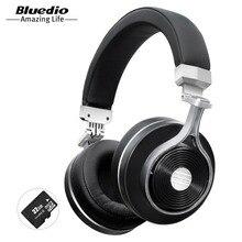 Bluedio T3 plus Bluetooth наушники беспроводные наушники с микрофоном и поддержкой карты micro SD  а тажке наушники для музыкальным  телефоном