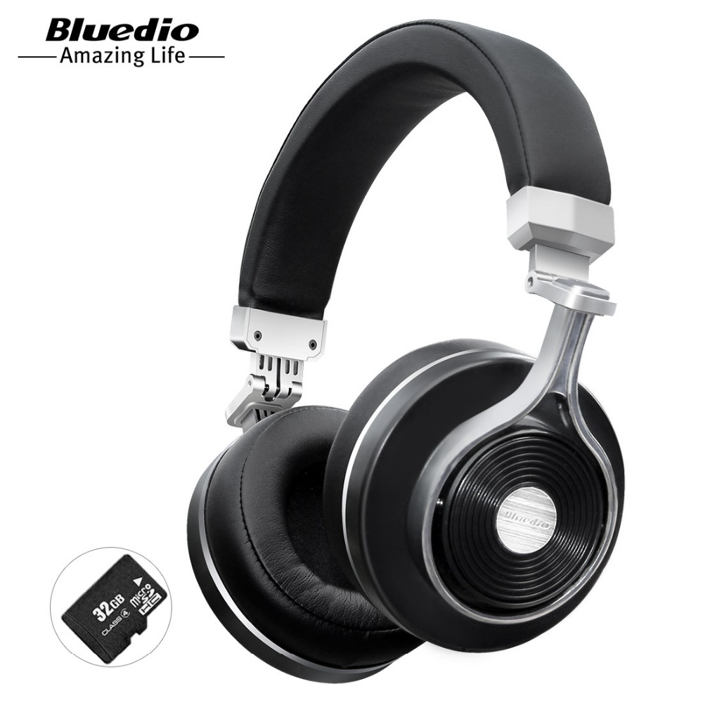 Bluedio T3 Più cuffie Bluetooth senza fili con microfono slot per schede SD di musica originale auricolare bluetooth del telefono accessorio