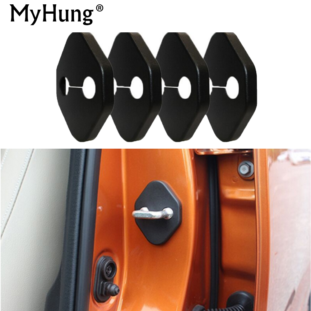 car styling Door lock decoration cover car cover For Nissan Maxima LEAF 370Z GT-R JUKE Pathfinder Armada Quest Note Combi