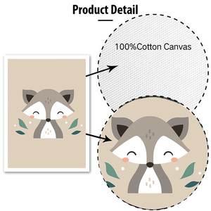 Image 5 - Foresta Del Fumetto Animali Stampe Poster Moderna di Arte Della Parete Immagini Scimmia Deer Fox della Tela di Canapa Pittura Per Bambini Camera Dei Bambini Complementi Arredo Casa