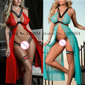 Sexy Lingerie women sexy costumes intimate sleepwear underwear slips sex toy Exotic lingerie gauze transparent chest split skirt