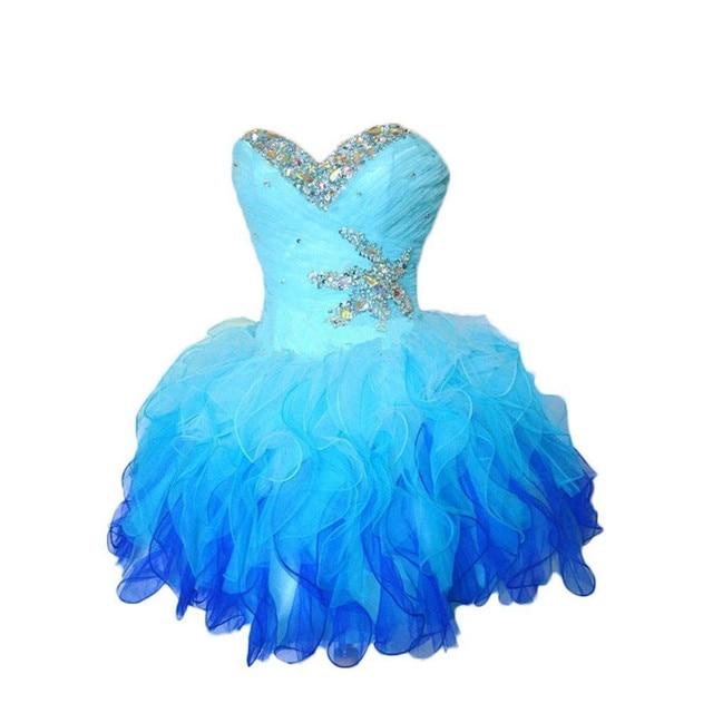 b82e6cc553de Ball Gown Sweetheart Sleeveless Short Evening Party Prom Dress 8th Grade vestido  de festa curto Short