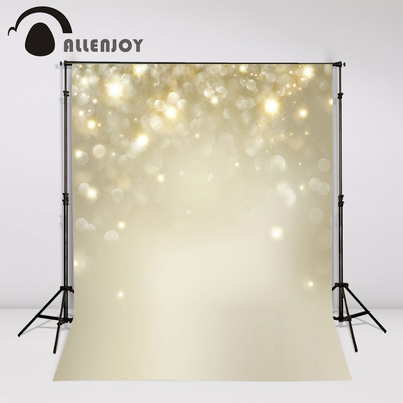 Allenjoy Christmas Background Gold Blinking Stars Blurred Bokeh newborn photography backdrops photo studio props photocall allenjoy photography backdrops school study room bookshelf photo studio background newborn baby photocall
