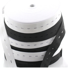 1 Meters 15/20/25MM Button Hole Knit Flat Elastic Bands Ribbon Tape for DIY Garment Sewing Accessories White/Black Wire Webbing