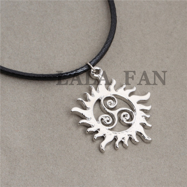 Supernatural Teen Wolf Symbols Leather Pendant Necklace Xl381 In