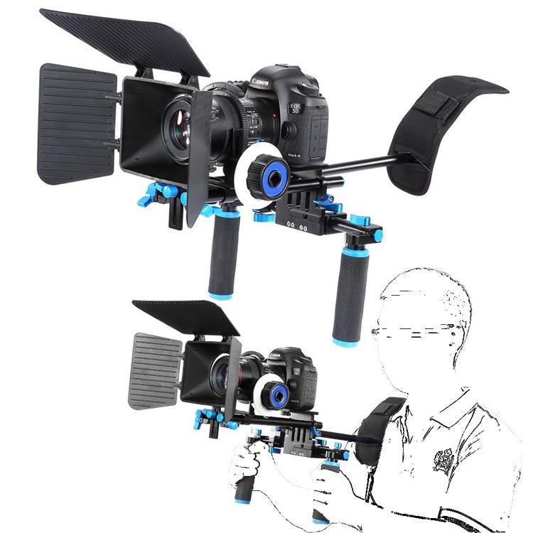 DSLR Movie Video Making Rig Set System Kit for Camcorder DSLR Camera for Canon Nikon Sony Pentax Fujifilm Panasonic dslr rig movie kit shoulder mount for dv canon sony nikon pentax camera