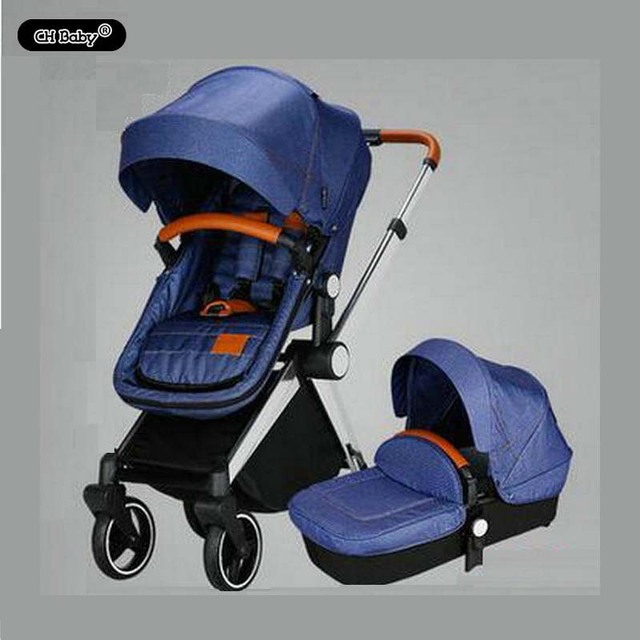 CH roda de borracha carrinho de bebê dobrar cinco pontos do cinto de segurança do bebê bebê carrinho de bebê com berço do bebê